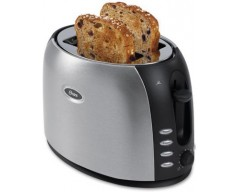 Oster TSSTJC5BBK 800 W Pop Up Toaster(Silver and black)