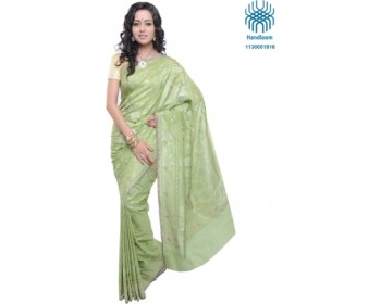 Jamdani Cholapur Cluster Self Design Banarasi Silk Sari