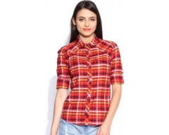Levis Women's Checkered Casual Shirt