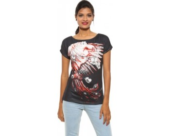Spykar Printed Women's Round Neck T-Shirt