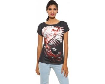 Spykar Printed Women's Round Neck T-Shirt