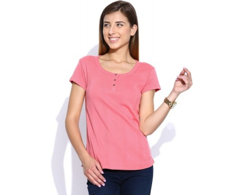 Levis Casual Short Sleeve Solid Women's Top