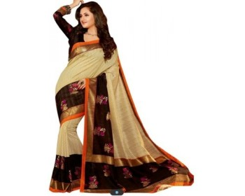 Best Collection Printed Fashion Pure Silk Sari
