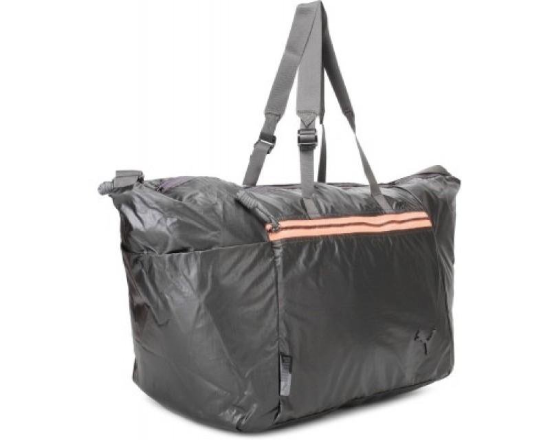 Puma Fit At Lux Workout Bag 17 inch/44 cm(Black, Fluro Peach)