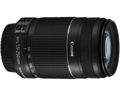 Canon EF-S 55 - 250 mm f/4-5.6 IS II Lens  (Black, Telephoto Zoom Lens)