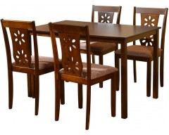 @home by Nilkamal SUTLEJ Solid Wood Dining Set  (Finish Color - Polished)