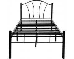 FurnitureKraft Metal Single Bed  (Finish Color - Black)