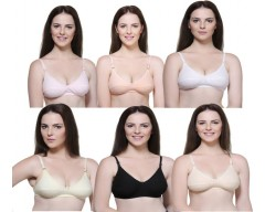 In Beauty Premium Women's Push-up, Full Coverage Multicolor Bra