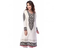 Ladies Blended Print Mix-and-Match Kurta