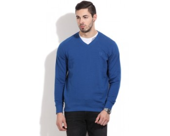 Lee Full Sleeve Solid Men's Sweatshirt