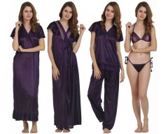 Miavii Women's Nighty  (Purple)