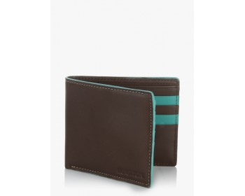 United Colors of Benetton Brown/Red Edge Highlight Leather Wallet
