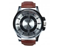 United Color of Benetton Brown Leather Analog Formal Watch